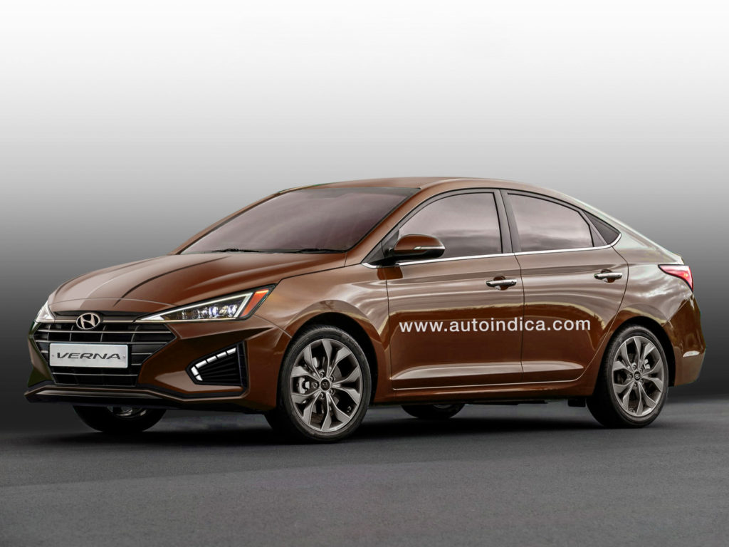 All New Hyundai Verna Looks Like Elantra S Younger Brother Autoindica
