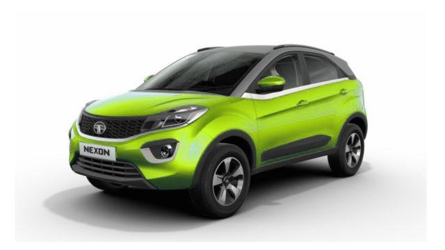 Tata Nexon Neon Green
