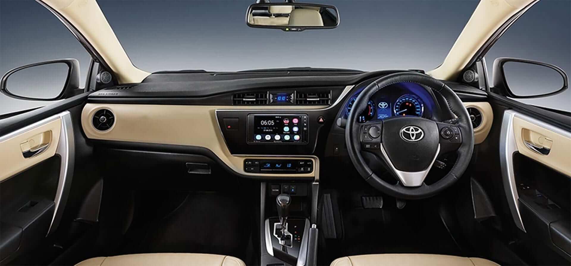 Toyotya cars dashboard