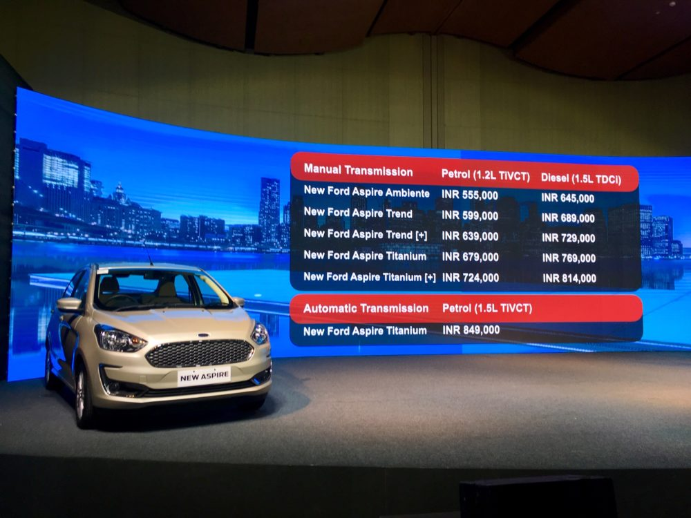 Ford Aspire facelift launched (1)