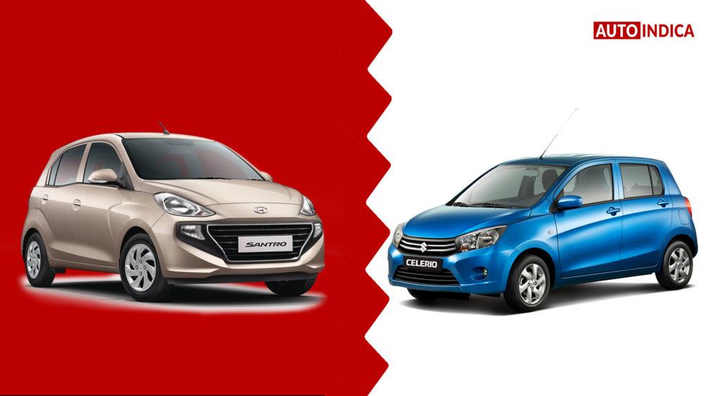 New Hyundai Santro vs Maruti Suzuki Celerio