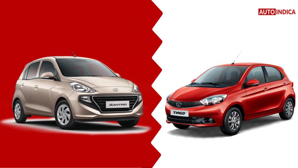 New Hyundai Santro vs Tata Tiago