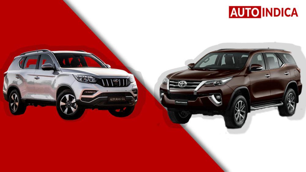 Mahindra Alturas G4 vs Toyota Fortuner (1)