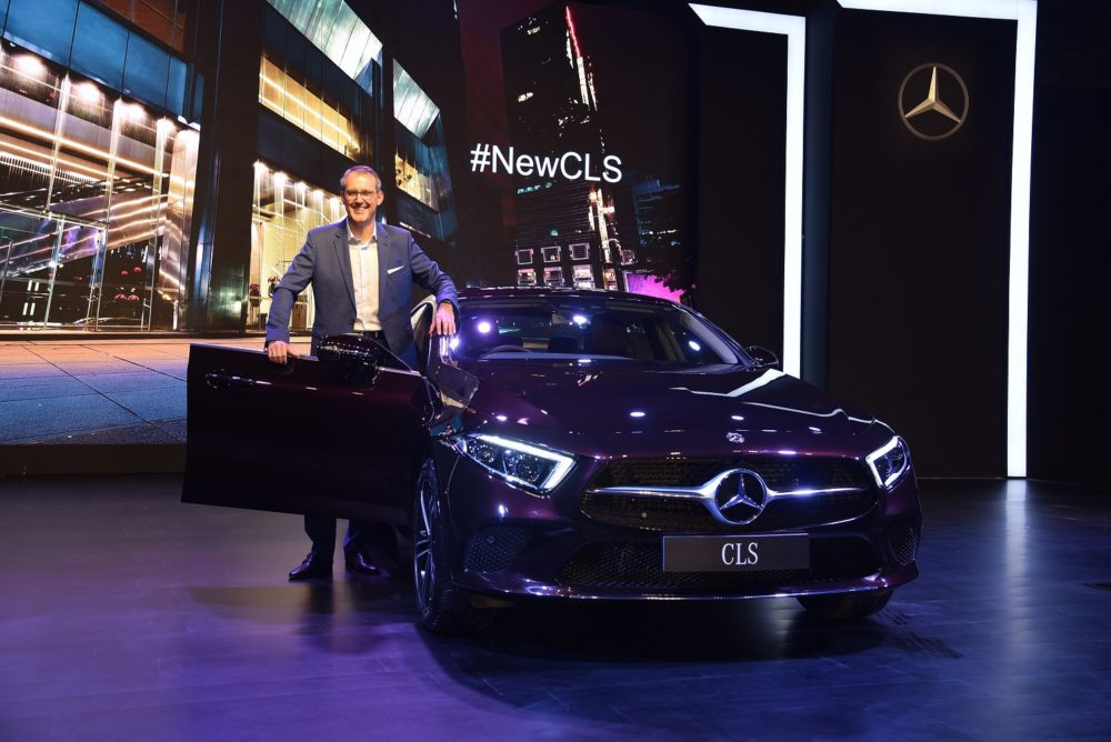 Mr. Michael Jopp&#44 Vice President - Sales & Marketing at the launch of new dream car Mercedes-Benz CLS (1)