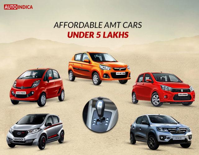 Affordable AMT cars under 5 lakhs