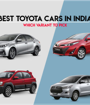 Best Toyota cars in India - Choose your variant
