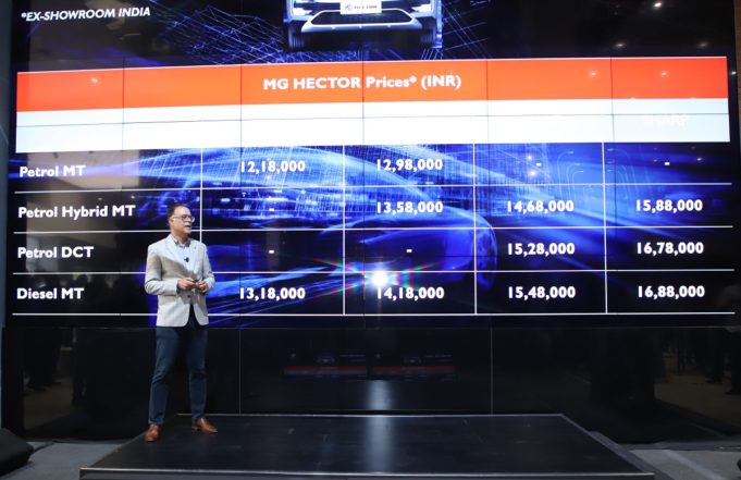 mg hector price launched india autoindica