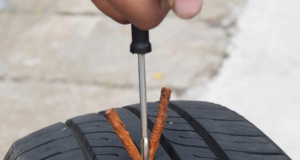 tubeless tyre puncture how to repair