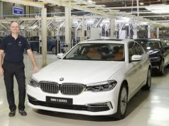 Mr. Thomas Dose, MD, BMW Plant Chennai with the BS VI diesel BMW 5 Series AutoIndica