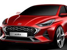 Hyundai AURA sketch AutoIndica